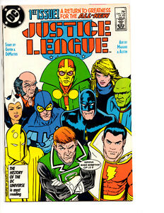 JUSTICE LEAGUE #1 NM (1987) 1ST APP MAXWELL LORD SUPERGIRL