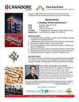 Parry Sound - Governance - Leading Trends and Issues