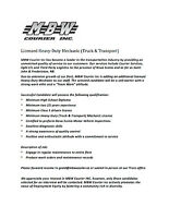 Full Time Heavy Duty Mechanic (Truck & Transport)