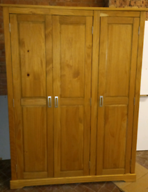 Wooden 3 door Large wardrobe only £75. RBW Clearance Outlet