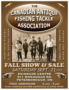 Canadian Antique Fishing Tackle Association Fall Show
