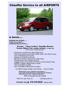 Chauffer Service to all AIRPORTS.....from Sarnia London Ontario image 1