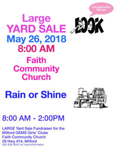 Large Fundraising Yard Sale - Milford, NS