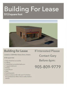 Building For Lease- Prime Location