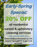 Spring Carpet & Upholstery Cleaning Specials on now!