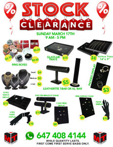 **** HUGE WAREHOUSE SALE ON JEWELLERY BOXES & DISPLAYS -