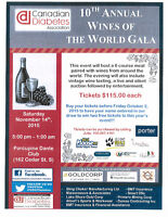 10th Annual Wines of the World Gala for Diabetes!