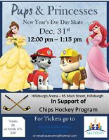 Pups & Princesses New Year's Eve Day Skate!