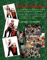 """Wacky Santa Magic Show""  Blair Marshall 514-636-8069"