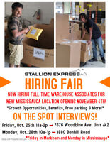 *HIRING FT WAREHOUSE ASSOCIATES FOR NEW MISSISSAUGA LOCATION*