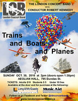 "London Concert Band - ""Trains and Boats and Planes"""