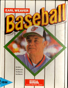 1988-89 EA Sports Earl Weaver Baseball Computer Game