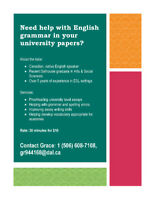 University/High School Academic English Tutor