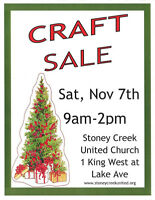 CRAFT SALE at STONEY CREEK UNITED CHURCH