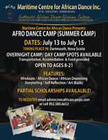 Maritime Centre for African Dance- Afro-Dance Summer Camps
