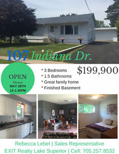 OPEN HOUSE! 107 INDIANA DR. SUN. MAY 28TH FROM NOON -130