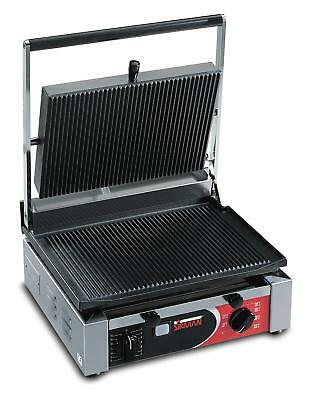 Sirman Cort L Single Panini Grill W Grooved Top Flat Bottom