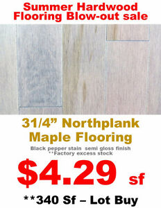"3¼"" Maple Hardwood Flooring - Floor Country Factory Clearance"