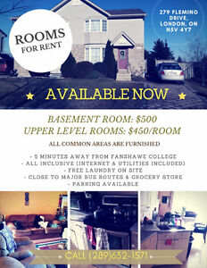 Basement Room Available June | CLOSE TO FANSHAWE | ALL INCLUSIVE