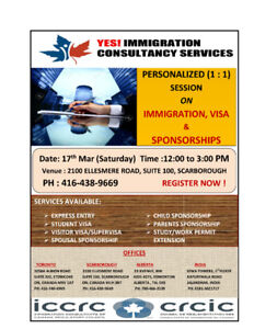 YES! IMMIGRATION CONSULTANCY SERVICES - FREE SEMINAR