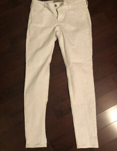 Hollister skinny white jeans - size 9 R