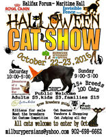 HALLOWEEN CAT SHOW OCT 22-23 HALIFAX FORUM