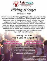 Hiking & Yoga at Island Lake