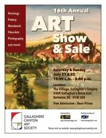 Gallaghers Art Show and Sale  July 21 - 22