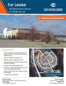 Industrial Properties for Sale / Lease in Fort McMurray