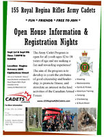 ARMY CADET OPEN HOUSE INFORMATION AND REGISTRATION NIGHTS