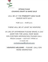 SPRING FLING - GRAMA'S CRAFT AND BAKE SALE