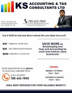 $250 CORPORATE TAX RETURNS & $30 PERSONAL TAX(LICENSED BUSINESS) Edmonton Edmonton Area image 1