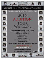 Quinte Ballet School of Canada 2016 Audition Tour Windsor
