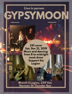 BR. 5 LEGION - GYPSY MOON BAND --  LIVE MUSIC