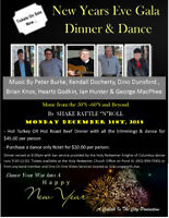 New Year Eve Gala Dinner & Dance At Jack Blanchard Family Centre