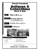 Antique and Collectibles Sale Nov 2nd-3rd
