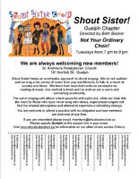 Shout Sister Choir Guelph is Welcoming New Members!