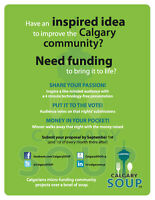 CalgarySOUP-micro-funding community projects over a bowl of soup