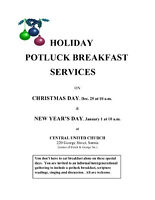 New Year's Day Potluck Breakfast Service