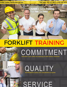 Forklift Training + Certification (Licence) + Jobs from only $75 Peterborough Peterborough Area image 4