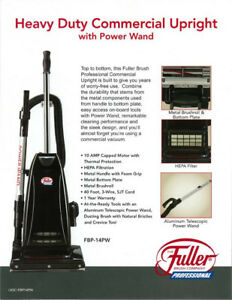 Brand New - FULLER BRUSH COMMERCIAL FBP-14PW WITH TOOLS