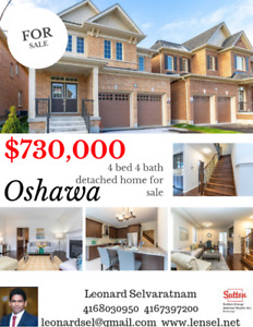 Oshawa house for sale !! Great home 4 bedroom 4 bath