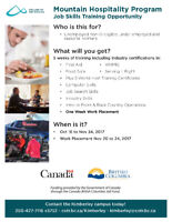 FREE Job Skills Training Opportunity at College of the Rockies!