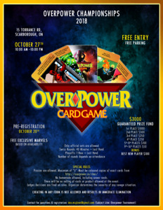 Overpower Tournament!! Marvel DC Image