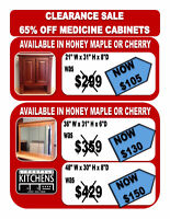 CLEARANCE SALE! 65% OFF MEDICINE CABINETS!