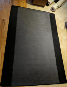GREY WITH BLACK BORDER MODERN CARPET RUG