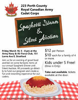 223 Army Cadets Annual Spaghetti Dinner & Silent Auction