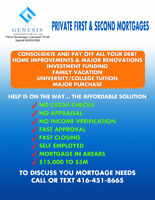Private First and Second Mortgages