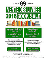 Centre Greene BOOK SALE 2016 - May 6 & 7