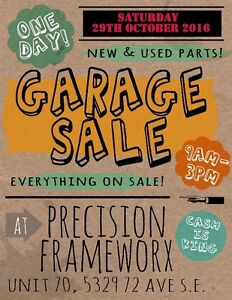 Open House Motorcycle Parts Garage Sale